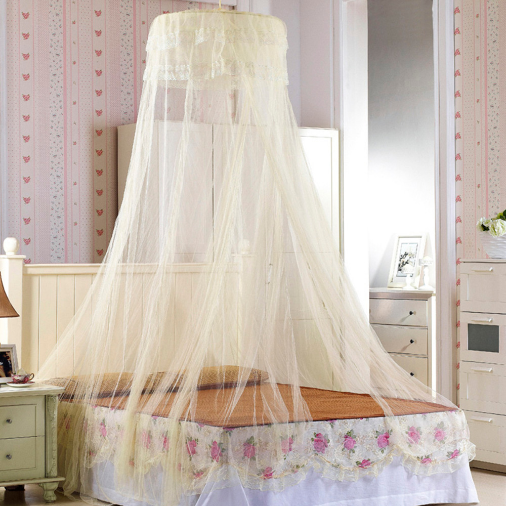 Elegant Round Top Mosquito Net Dome Top Princess Bed Canopy Bed Curtain Netting Home Bedding