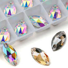 AAAAA Quality 4 Sizes Boutique Navette Shape Crystal Sew On Rhinestones Sewing Jewelry Beads For Dress Making,Jewelry Decoration