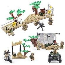 Купить с кэшбэком 2017 New Kazi 4Pcs Building Blocks Wolf Tooth Field Team Militray Army Weapons Compatible With Legoe Solider Bricks Toys