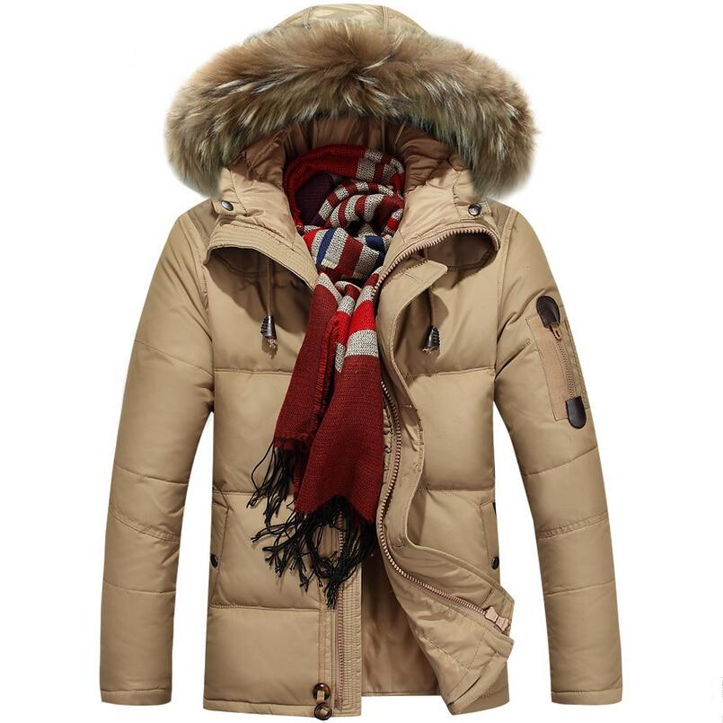 New 2015 Duck Down Men Jacket Winter Coat Men Brand Natural Fur Collar Plus Thick Men Wholesale Parka Down Jackets Clothes M-3XL