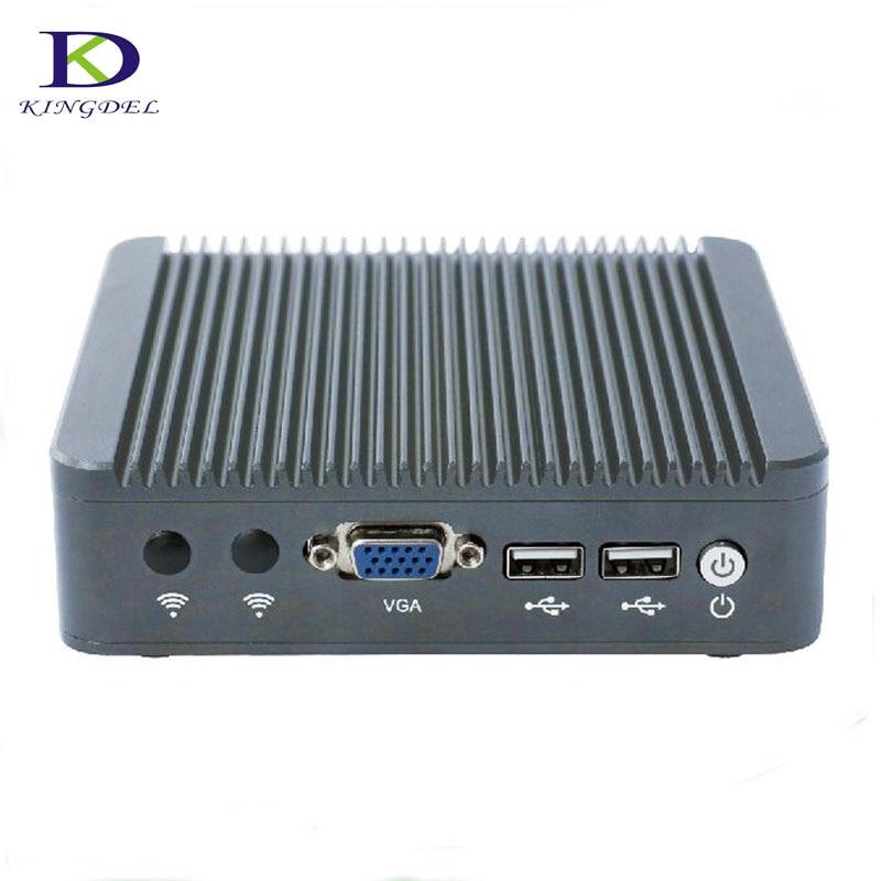 Thin Client Mini PC Celeron J1800 2.41GHz Dual Lan Fanless Micro Computer Windows7 OS VGA desktop pc tv box 4G RAM 64G SSD  new thin client computers with 4 gigabit ethernet lan 1 7g dual core 4g 500g fanless industrial pc x86 network security