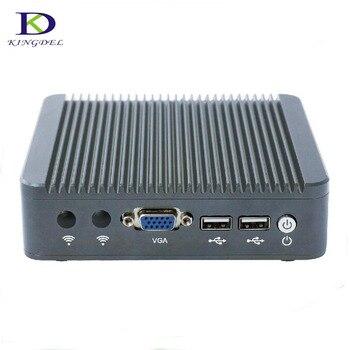 Thin Client Mini PC Celeron J1800 2.41GHz Dual Lan Fanless Micro Computer Windows7 OS VGA desktop pc tv box 4G RAM 64G SSD