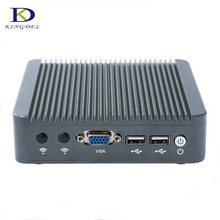 Thin Client Mini PC Celeron J1800 2.41GHz Dual Lan Fanless Micro Computer Windows7 OS VGA desktop pc tv box 4G RAM 64G SSD
