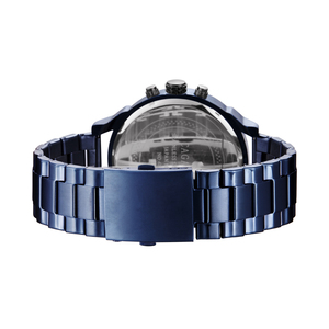 Image 2 - Cagarny 6820 Classic Design Quartz Watch Men Fashion Mens Wrist Watches Blue Stainless Steel Dual Times Relogio Masculino xfcs