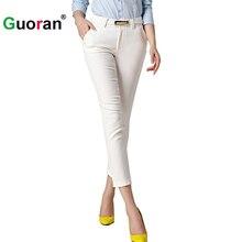 {Guoran} 2017 Summer New Women Office Work Pencil Pants White Black Khaki Beige Ladies Business Wear Trousers Female Fomal Pants