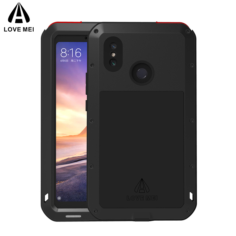 LOVE MEI Metal Case For Xiaomi Mi Max 3 Cover Aluminum Armor Shockproof Waterproof Case For Xiaomi Max3 Powerful Outdoor CoverLOVE MEI Metal Case For Xiaomi Mi Max 3 Cover Aluminum Armor Shockproof Waterproof Case For Xiaomi Max3 Powerful Outdoor Cover