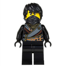 Single Sale Rebooted Black Techno Cole Kai Jay Phantom Ninja Masters minifig Assemble Building Blocks Kids Children Toys Gifts(China)
