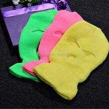 1 шт.,, уличная Балаклава Sas Cs, стильная зимняя Лыжная шапка для мужчин и женщин, шапка с 3 отверстиями, маска для шеи