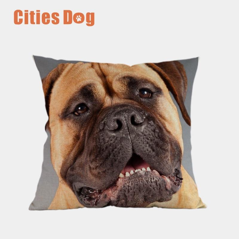 Cushion Cover Bullmastiff Animal dog Pillow Case Home Decorative Throw 45x45cm Pillows Cover Almofadas Almofadas Cojines