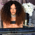 Ombre Full Lace Human Hair Wigs For Black Women Lace Front Human Hair Wig 180% Kinky Curly Brazilian Virgin Hair Full Lace Wigs