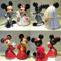 2pcs Set 14cm 17cm 0 7Kg Set Mickey Minnie Married Doll Toys