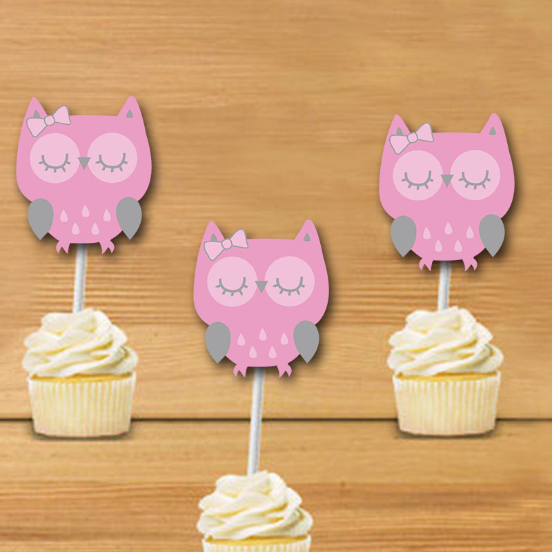 owl cupcake toppers owl birthday party decorations party supplies birthday party decorations kidschina - Cheap Party Decorations