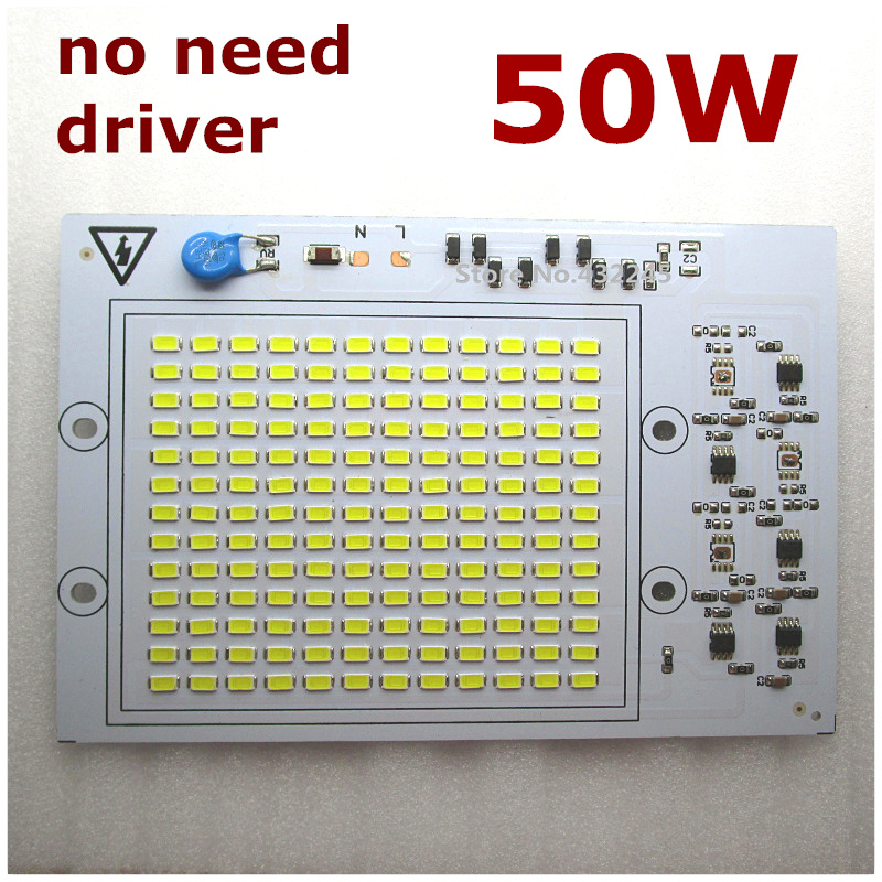 10 pieces 220V directly 50W Integrated IC LED PCB smd 5730 Aluminum Base Plate no need driver for floodlight .free.