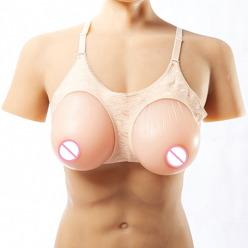 Silicone Breast Forms Mastectomy Boob Artificial Breast Enhancer Drag Queen Crossdress Shemale False Breasts Skin Color 1000g 2800g pair 8xl size fake breasts drag queen breast forms silicone false breast enhancer shemale fake boob prosthesis