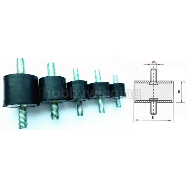 4 sztuk M12 serii typu VV podwójny męski gwint gumowy amortyzator gumowe wibroizolator w Części i akcesoria od Zabawki i hobby na AliExpress - 11.11_Double 11Singles' Day 1