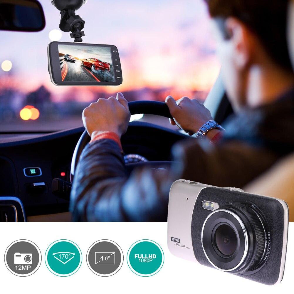 4 1080P FHD Автомобильный dvr с двумя камерами Авто Цифровой Видео регистраторы заднего вида регистраторы автомобильной двойной объектив Ночное
