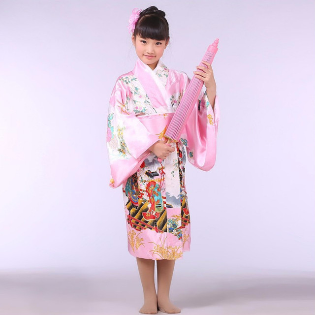 Pink Stylish Japanese Baby Girl Kimono Dress Cute Kid Yukata With Obi School Girl Dance Costumes  sc 1 st  AliExpress.com & Pink Stylish Japanese Baby Girl Kimono Dress Cute Kid Yukata With ...