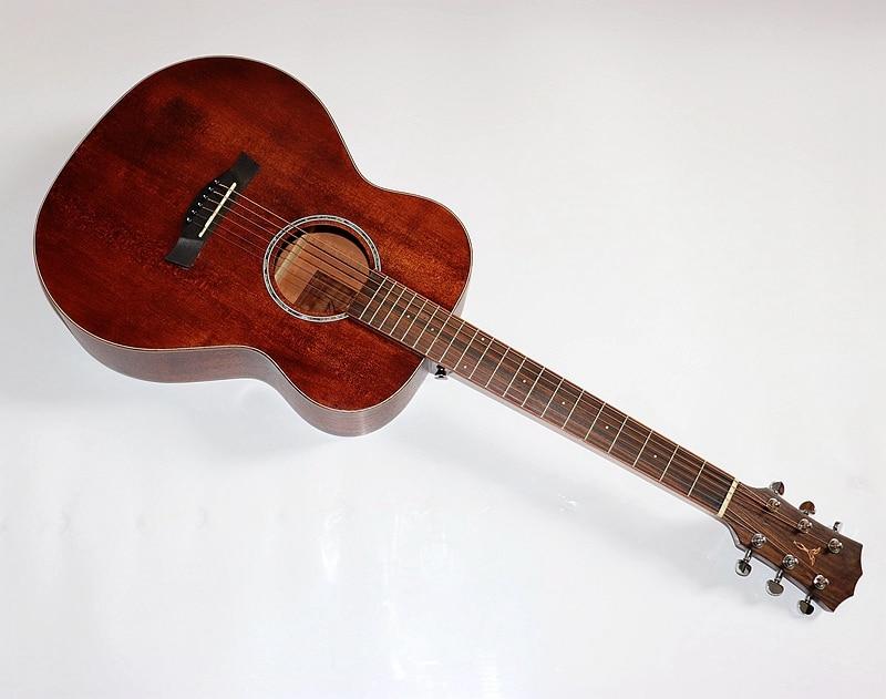 Qualité supérieure pleine acajou 36 pouces bois massif voyage guitare 4/4 guitare