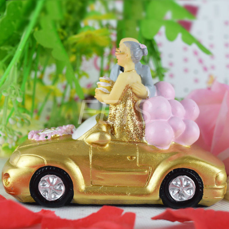 2015 New Romance Resin wedding cake toppers bride and groom for 50th ...