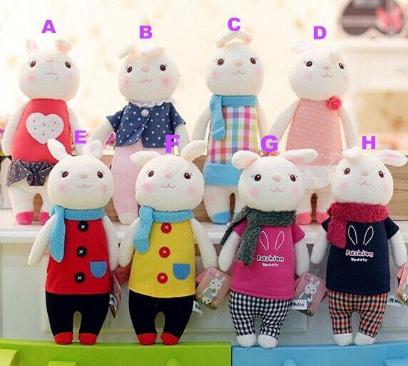 Tiramisu rabbit plush toys Metoo Stuffed doll  8 style 35cm Bunny Stuffed Animal Toy kids gifts
