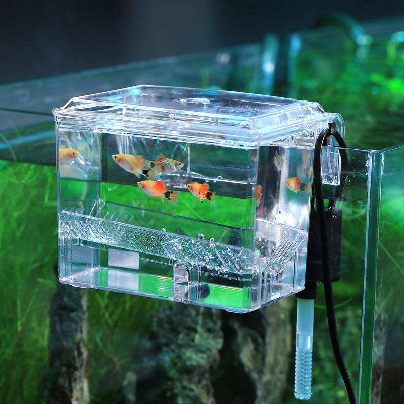 wall rack hanging aquarium fish tank isolation box hatcher
