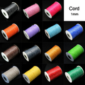 Free shpping 15m 1MM Waxed Thread Cotton beading Cord String Strap Rope jewelry findings for DIY shamballa Bracelet PS-FXT007
