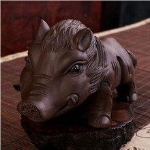 Фиолетовая глина yixing wild pig tea pets Высокое качество Элегантные различные формы красивый подарок чайные питомцы