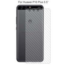2PACK 3D Transparent Carbon Fibre Protective Back Film For Huawei P10