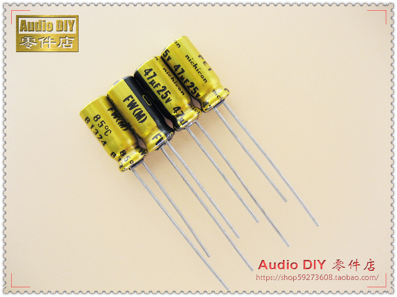 30PCS Nichicon FW Series Electrolytic Capacitors for 47uF/25V Audio free shipping