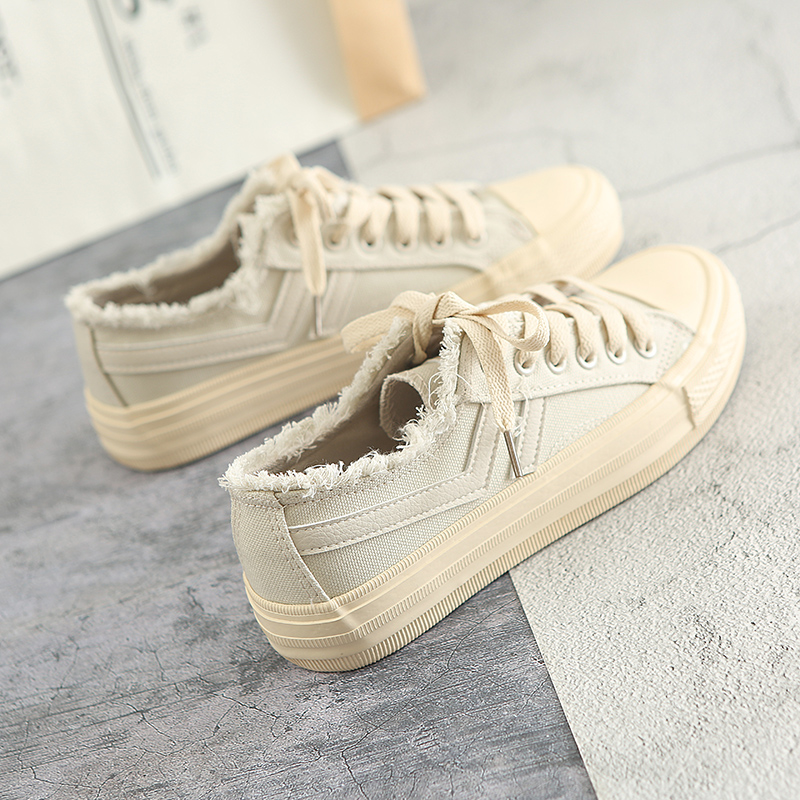 Women Canvas Shoes 2018 New Fashion Trends Female Chic Shoes for Spring Summer Solid Color Lace Up Flat Heel Preppy Style 35-39 breathable women hemp summer flat shoes eu 35 40 new arrival fashion outdoor style light