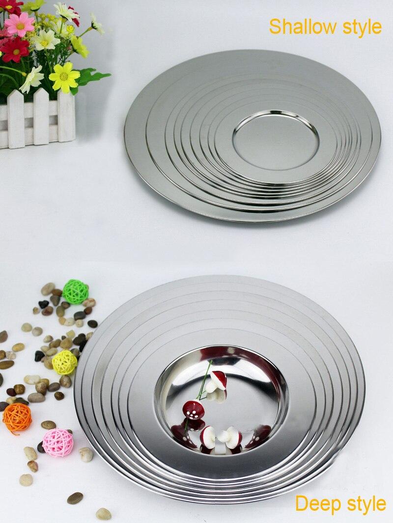 stainless steel dinnerware dinner plate broadside multipurpose soup dish flat plate tableware. Black Bedroom Furniture Sets. Home Design Ideas