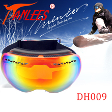 Panlees Anti-mist Snow Goggles Dual Lens Anti-UV400 Mirror Lens Snowboard Goggles Free Shipping