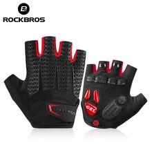 ROCKBROS велосипедные перчатки MTB Дорожные Перчатки для горного велосипеда перчатки с полупальцами мужские летние велосипедные перчатки для занятий фитнесом нескользящие спортивные перчатки