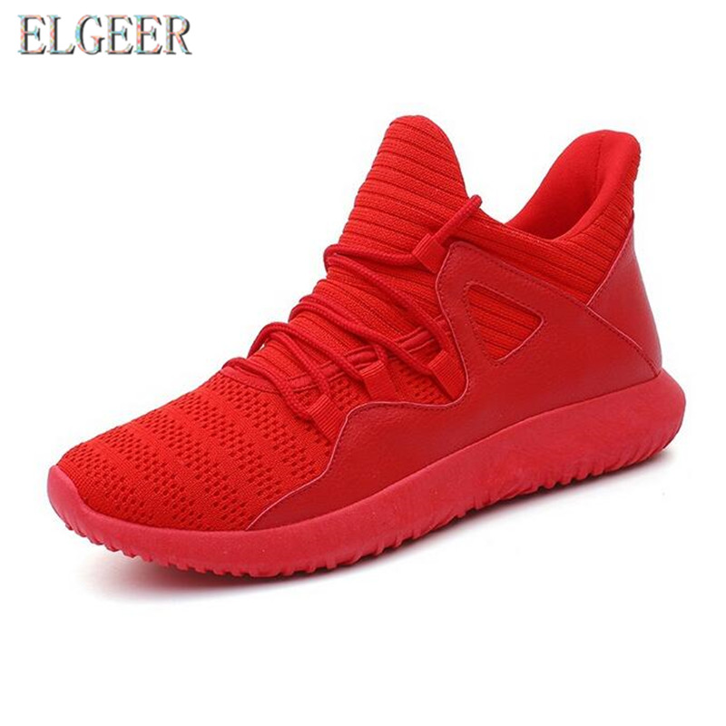 2018 spring and autumn new casual men's shoes flying mesh lace with - Men's Shoes