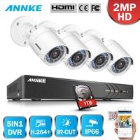 ANNKE 1080P 4CH HD TVI 4 In 1 DVR VCA 2MP HD IR Day Night Vision