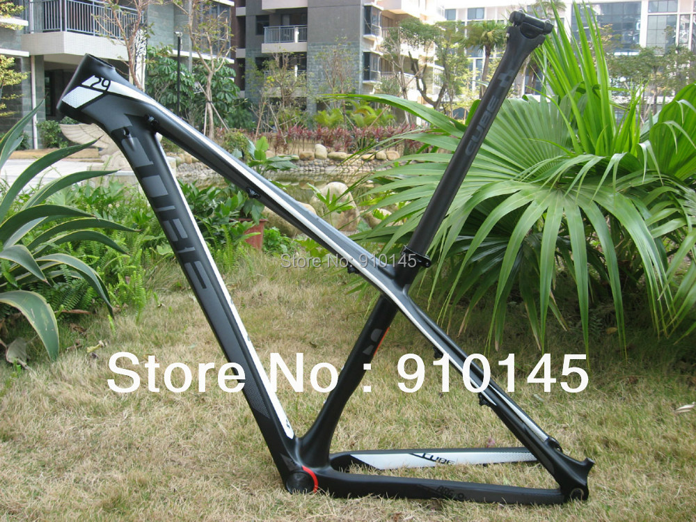 Hot Sales ! Free Shipping ! Cube Reaction GTC 29er Carbon Mountain Bike Frame Black/White/Red
