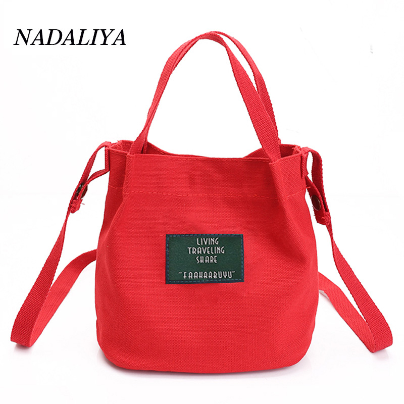 NADALIYA Lady Canvas Handbag Mini single shoulder bag Crossbody bags for women Messenger bag shopping bags Bucket pack bolsas women handbag shoulder bag messenger bag casual colorful canvas crossbody bags for girl student waterproof nylon laptop tote