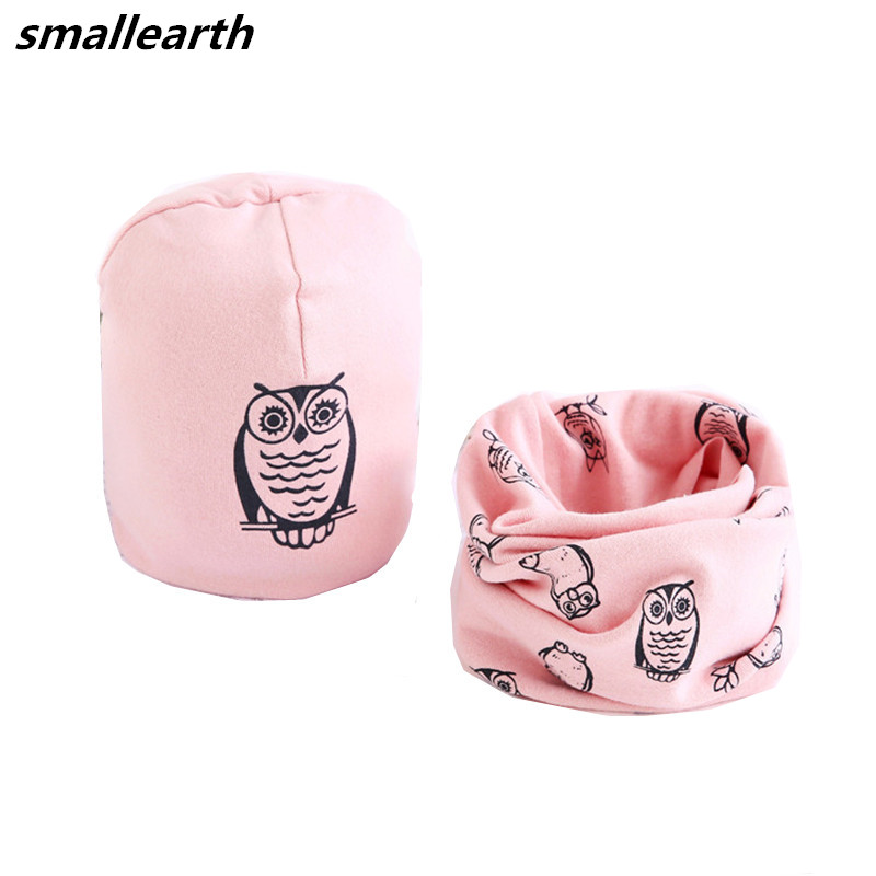 Hat Scarf Beanies-Sets Head-Cover Spring Neck-Collar Baby Kids Winter Children Cartoon