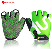Boodun Men and Women Cycling Gloves Gel Pad Anti Slip Breathable Motorcycle Mountain Bike Road Bike Sports Half Finger Gloves cycling gloves 3 colors cycling gloves men sports half finger anti slip gel pad motorcycle road bike gloves plus size xl