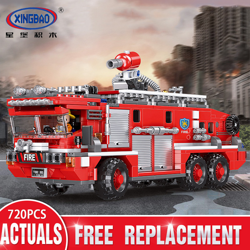 XINGBAO 03030 Firefighter Fire Accident Fire Truck Set compatible LegoIN Building Blocks Bricks Kids Toy Birthday Christmas GiftXINGBAO 03030 Firefighter Fire Accident Fire Truck Set compatible LegoIN Building Blocks Bricks Kids Toy Birthday Christmas Gift