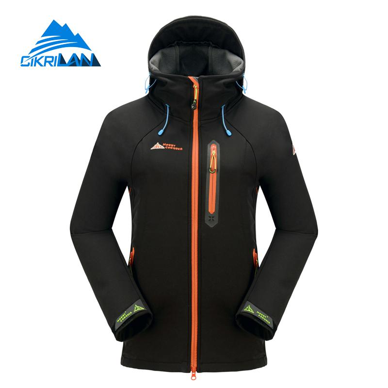 Hot Sale Warm Hiking Camping Outdoor Softshell Jacket Women Climbing Trekking Coat Windbreaker Water Resistant Chaquetas Mujer new mens water resistant windbreaker hiking camping coatoutdoor sport softshell jacket men trekking cycling jaqueta masculina