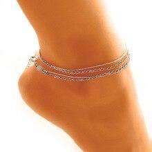 Cindiry Women Vacation Anklets Bracelet Sexy Leg Chain Women Bohemia Crystal Anklet Chain Jewelry bracelets cheville femme P0.1