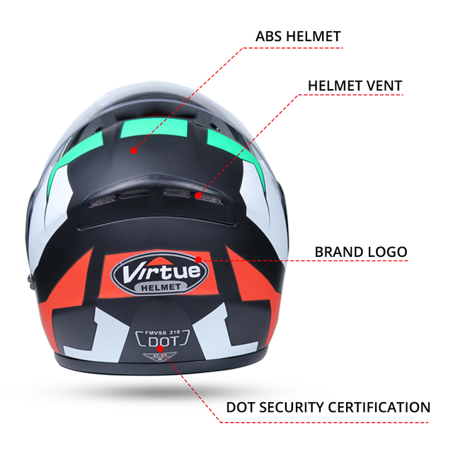 2019 New Motorcycle Helmet Racing Modular Dual Lens Motorbike Moto Helmet Flip Up Full Face Helmets Casco Moto Capacete Casque 2