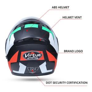 Image 3 - 2019 nowy kask motocyklowy wyścigi modułowy podwójny obiektyw motocykl Moto kask odwróć całą twarz kaski Casco Moto Capacete Casque