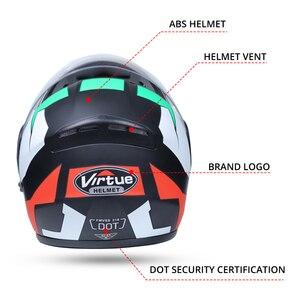 Image 3 - 2019 nuevo Casco de Moto de carreras Modular de doble lente Casco de Moto Flip Up cascos de cara completa Casco de Moto Capacete Casco