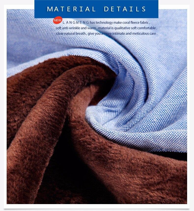 Langmeng חדש 5XL אנשים חמים קטיפה החולצה החורף, להאריך ימים יותר רשמי יומיומי שרוול ארוך חולצות camisa masculina מוצק צבע השמלה חולצות
