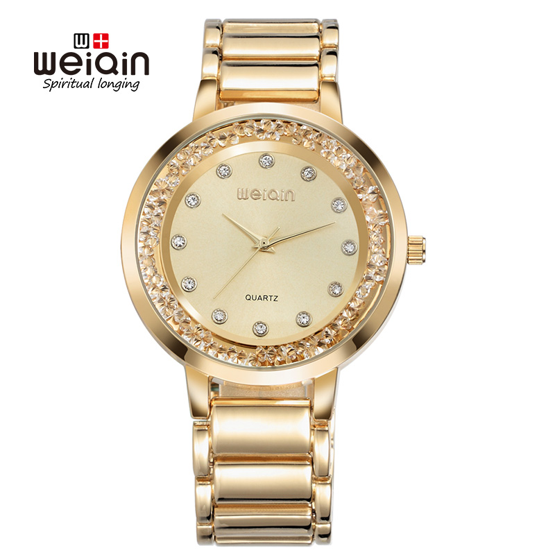 Weiqin Women Watches Luxury Stainless Steel Mesh Band Gold Casual Watch Ladies Business Quartz Watch Clock Relogio Feminino feitong luxury brand watches for women ladies watch full stainless steel gold mesh band wristwatch wristwatch relogio feminino