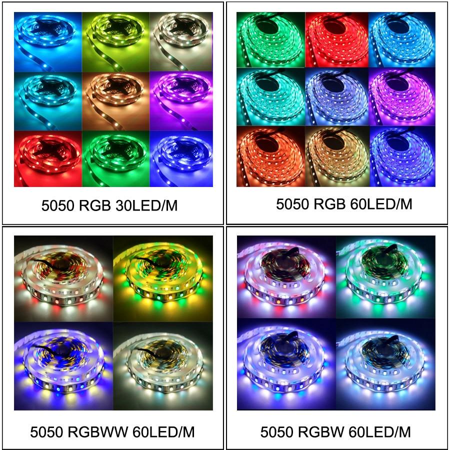 LED traka 5M 10M 5050 SMD fleksibilna vrpca RGB RGBW LED traka - LED Rasvjeta - Foto 4