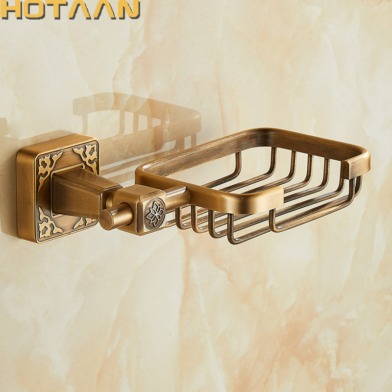 Solid Aluminium Wall Mounted Antique Brass Color Bathroom Soap Basket New Bath Soap Dish Holders Bathroom Products YT-14190Solid Aluminium Wall Mounted Antique Brass Color Bathroom Soap Basket New Bath Soap Dish Holders Bathroom Products YT-14190