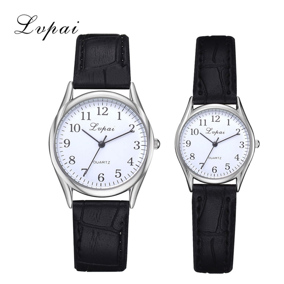 Lvpai Brand Couple Watch Fashion Black Leather Sport Quartz Wrist Watches Luxury Women Men Clock Relogio Masculino 2018